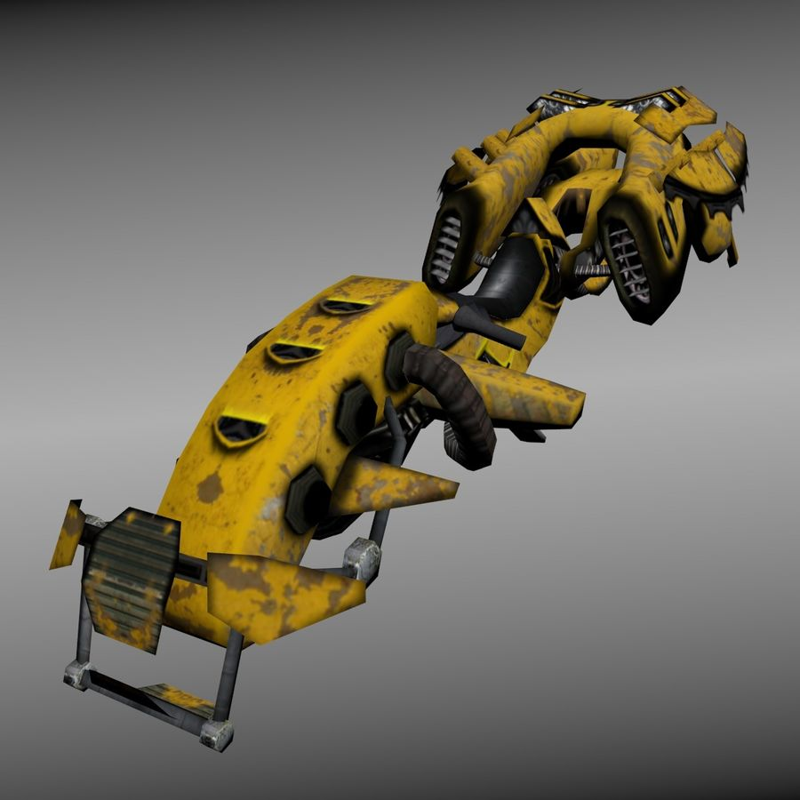 Hover Bike royalty-free 3d model - Preview no. 1