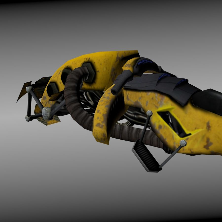 Hover Bike royalty-free 3d model - Preview no. 4