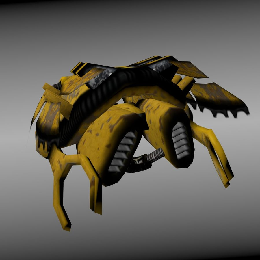 Hover Bike royalty-free 3d model - Preview no. 5