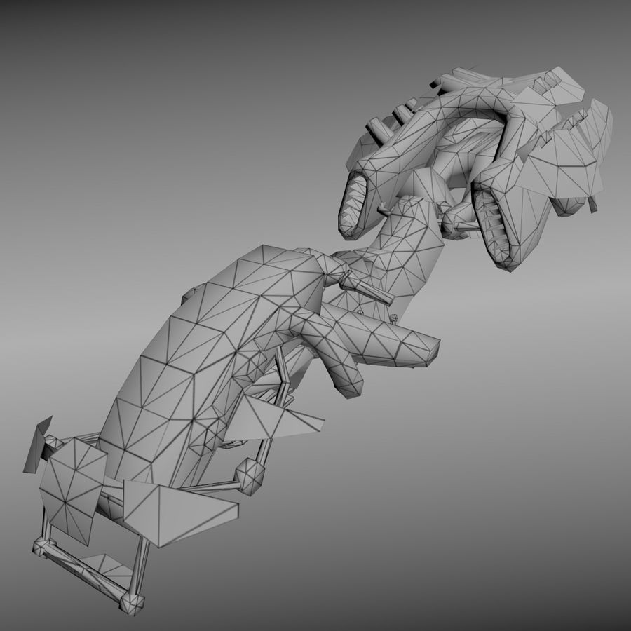 Hover Bike royalty-free 3d model - Preview no. 6
