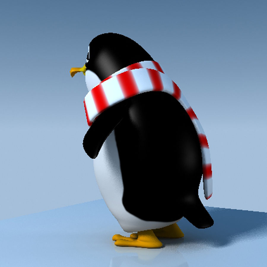 Penguin cartoon royalty-free 3d model - Preview no. 5