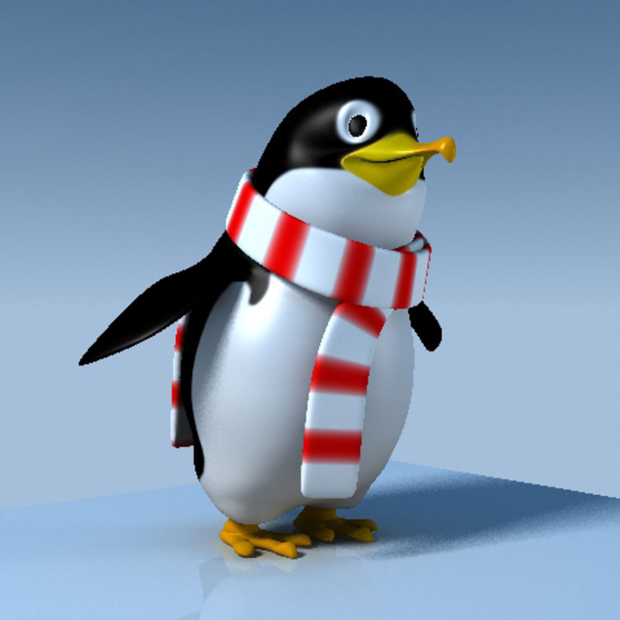 Penguin cartoon royalty-free 3d model - Preview no. 3