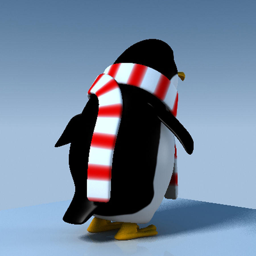 Penguin cartoon royalty-free 3d model - Preview no. 6