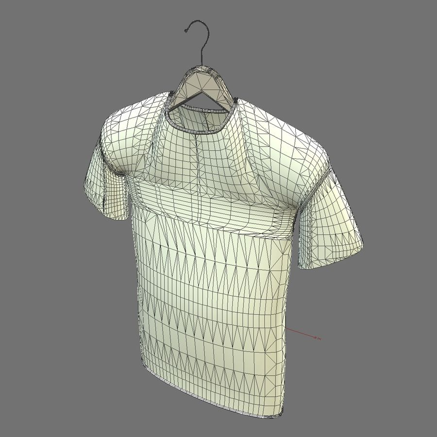 Koszulka na wieszaku royalty-free 3d model - Preview no. 12