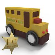 Schulbus Spielzeug 3d model