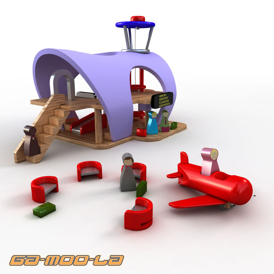 Toy Airport royalty-free 3d model - Preview no. 2