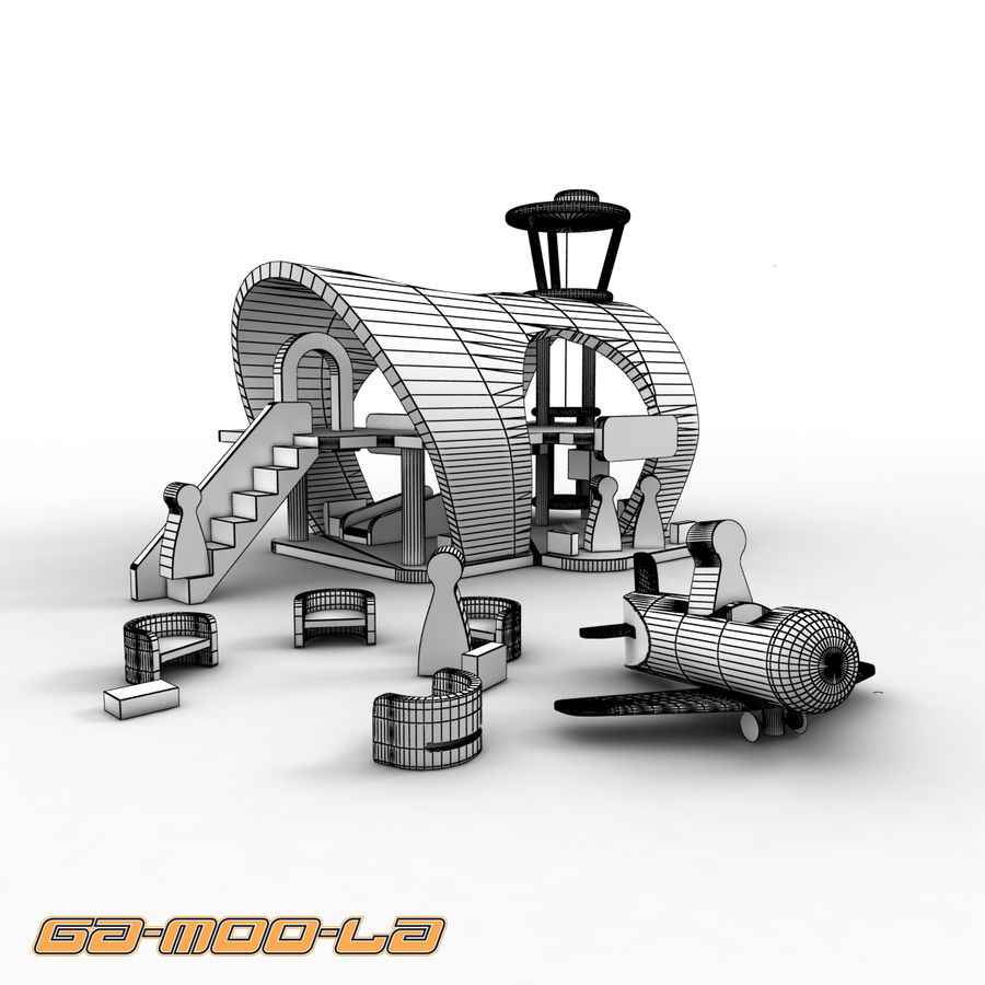 Toy Airport royalty-free 3d model - Preview no. 4