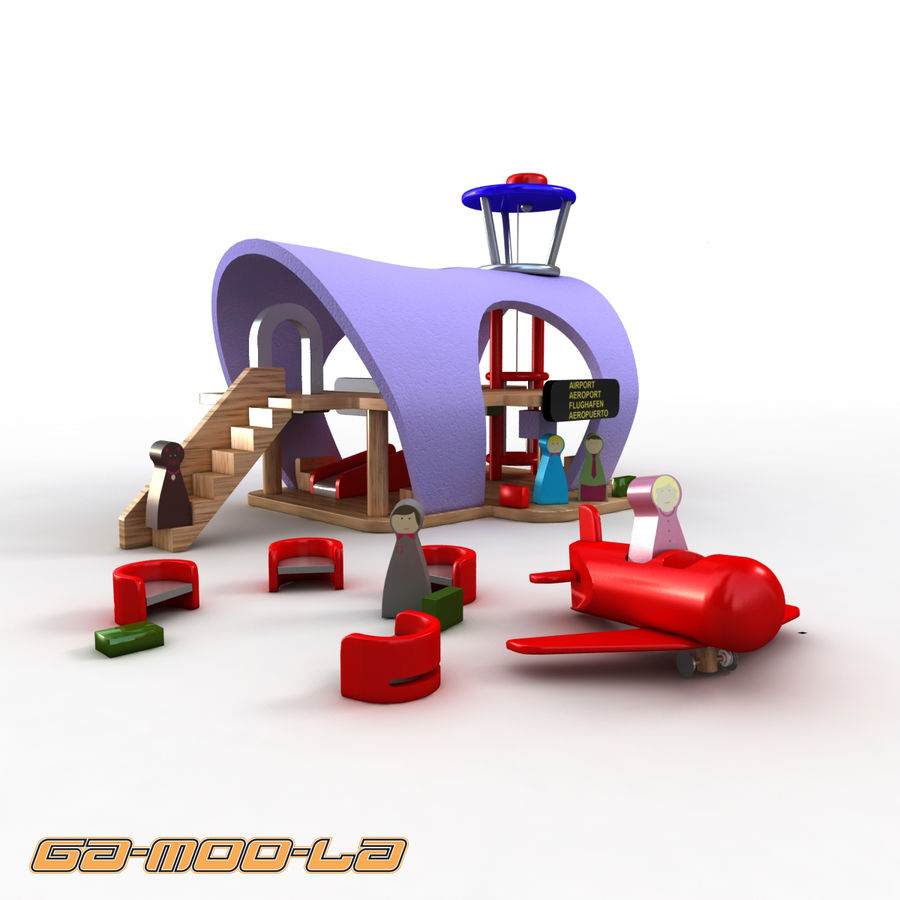 Toy Airport royalty-free 3d model - Preview no. 1