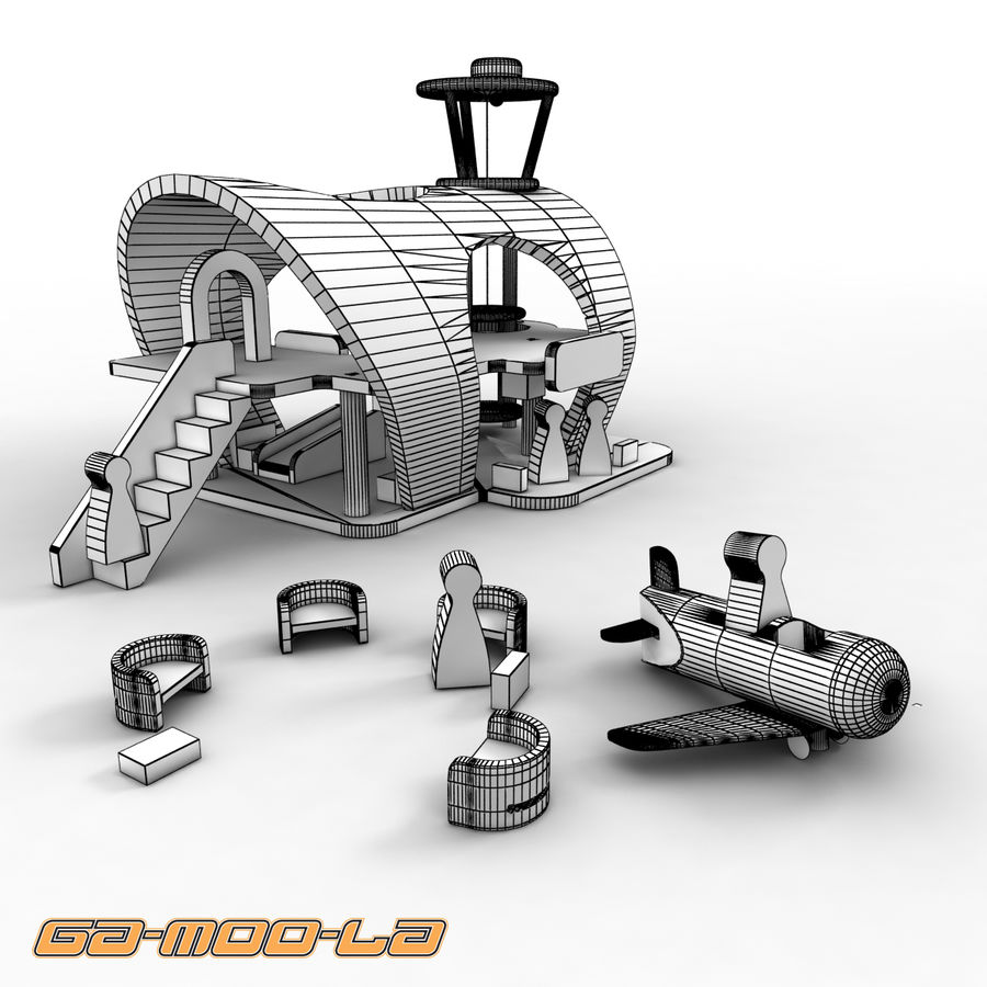 Toy Airport royalty-free 3d model - Preview no. 5
