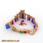 Piste de marbre jouet 3d model