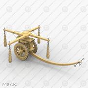 Anfallsvagn med slingor 3d model