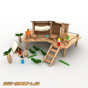 Toy Safari Hut 3d model