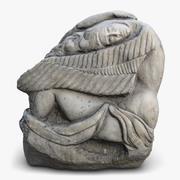 Angel Sculpture Modern Art 3d model