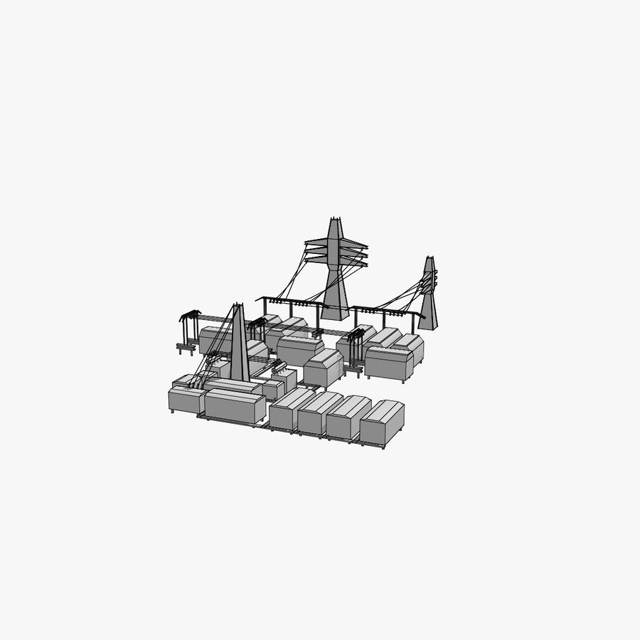 Yard Yard royalty-free 3d model - Preview no. 6