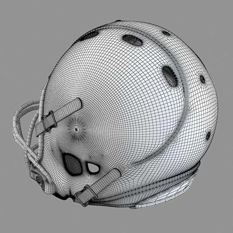 Футбольный шлем royalty-free 3d model - Preview no. 8