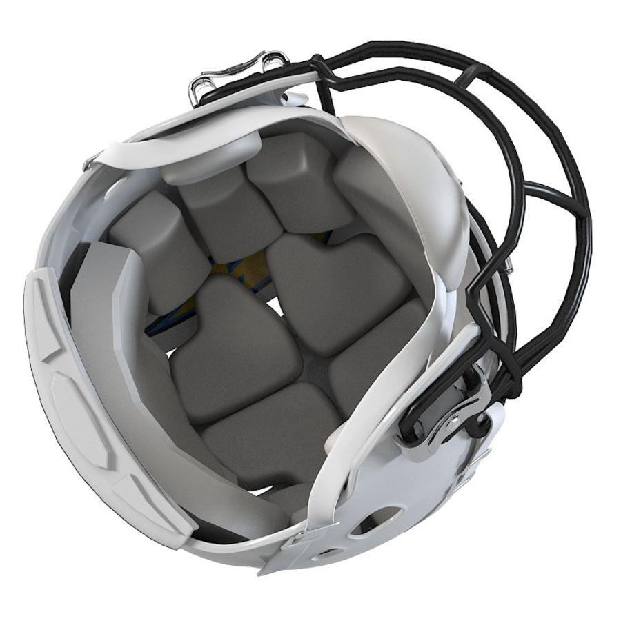 Футбольный шлем royalty-free 3d model - Preview no. 6