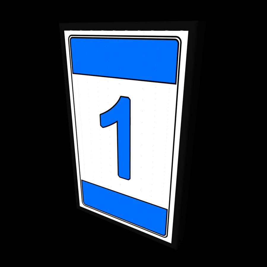 Panneau rotatif à trois panneaux royalty-free 3d model - Preview no. 1