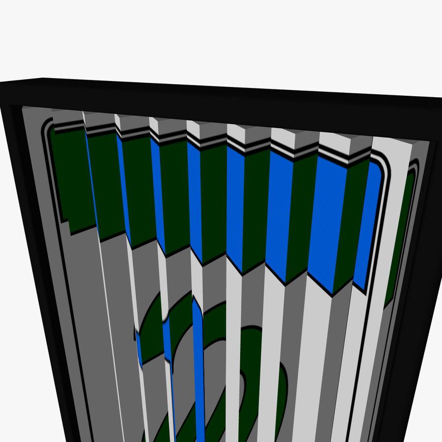 Panneau rotatif à trois panneaux royalty-free 3d model - Preview no. 4