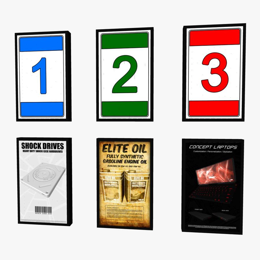 Panneau rotatif à trois panneaux royalty-free 3d model - Preview no. 6