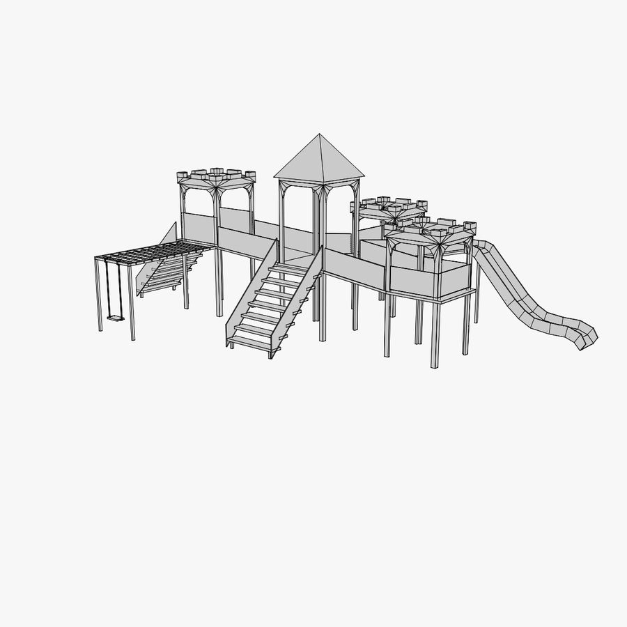 Children Playground royalty-free 3d model - Preview no. 5