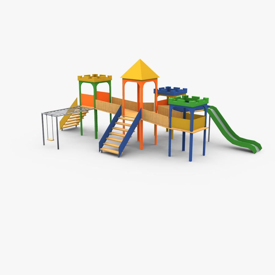 Children Playground royalty-free 3d model - Preview no. 1