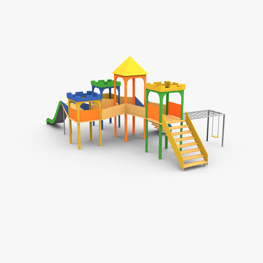 Children Playground royalty-free 3d model - Preview no. 3