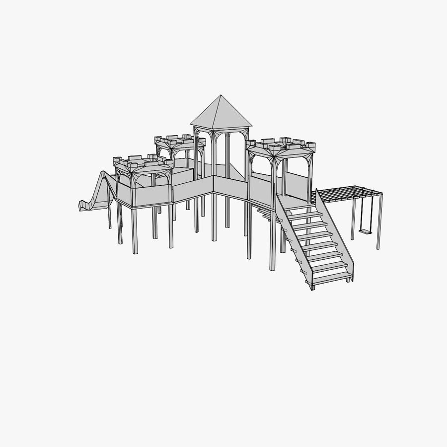 Children Playground royalty-free 3d model - Preview no. 4