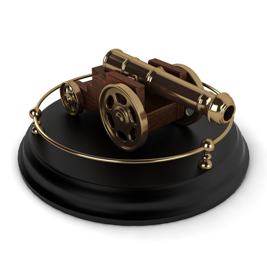 Antique Cannon Vintage royalty-free 3d model - Preview no. 6