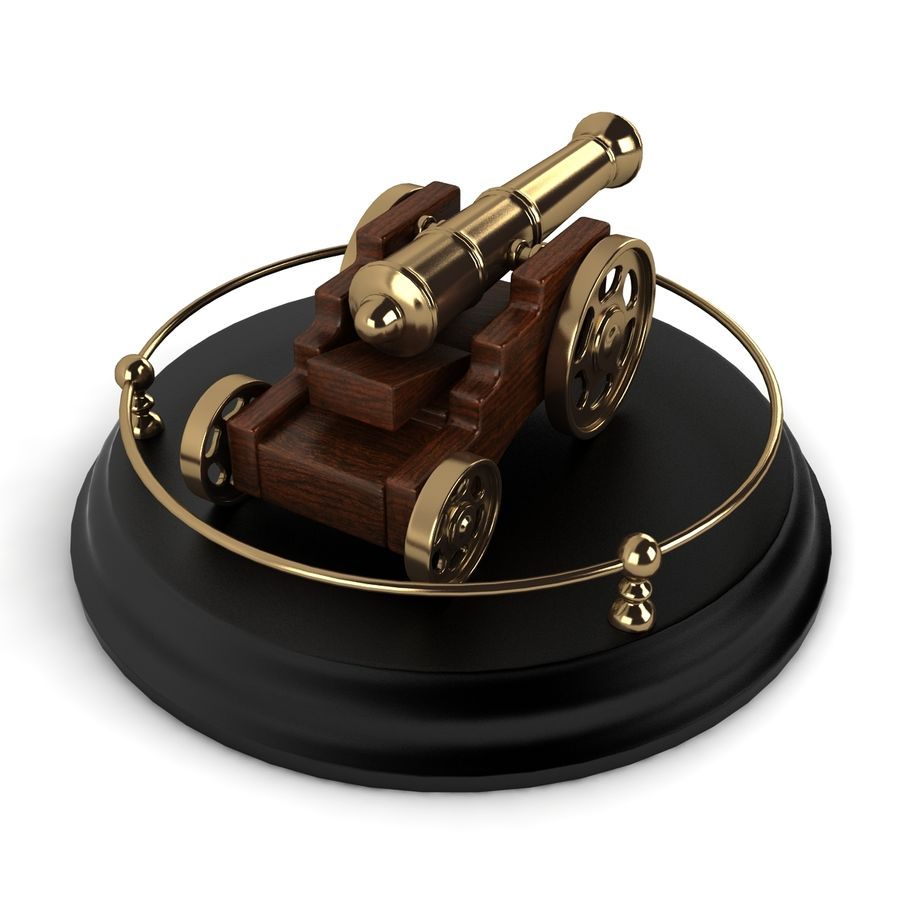 Antique Cannon Vintage royalty-free 3d model - Preview no. 5