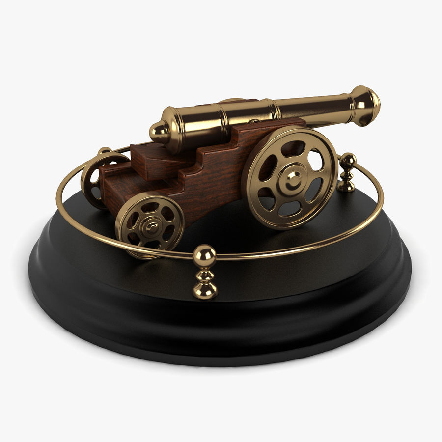Antique Cannon Vintage royalty-free 3d model - Preview no. 1