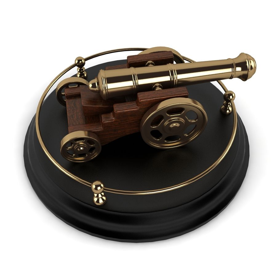 Antique Cannon Vintage royalty-free 3d model - Preview no. 7