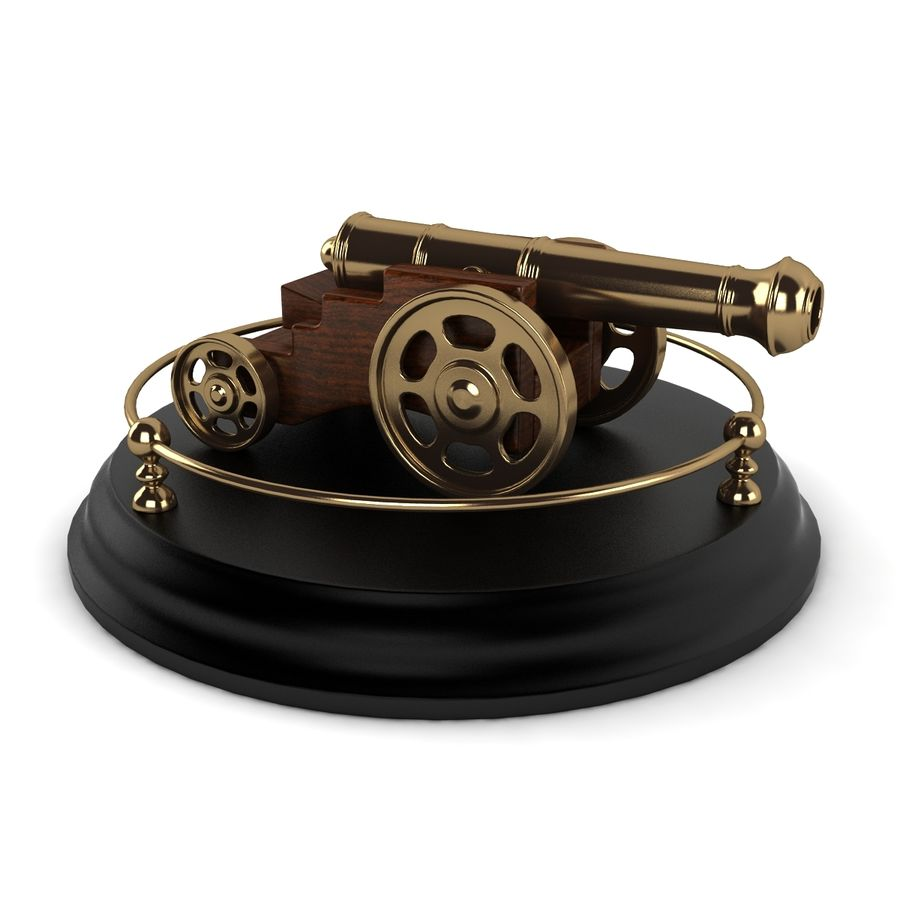 Antique Cannon Vintage royalty-free 3d model - Preview no. 4