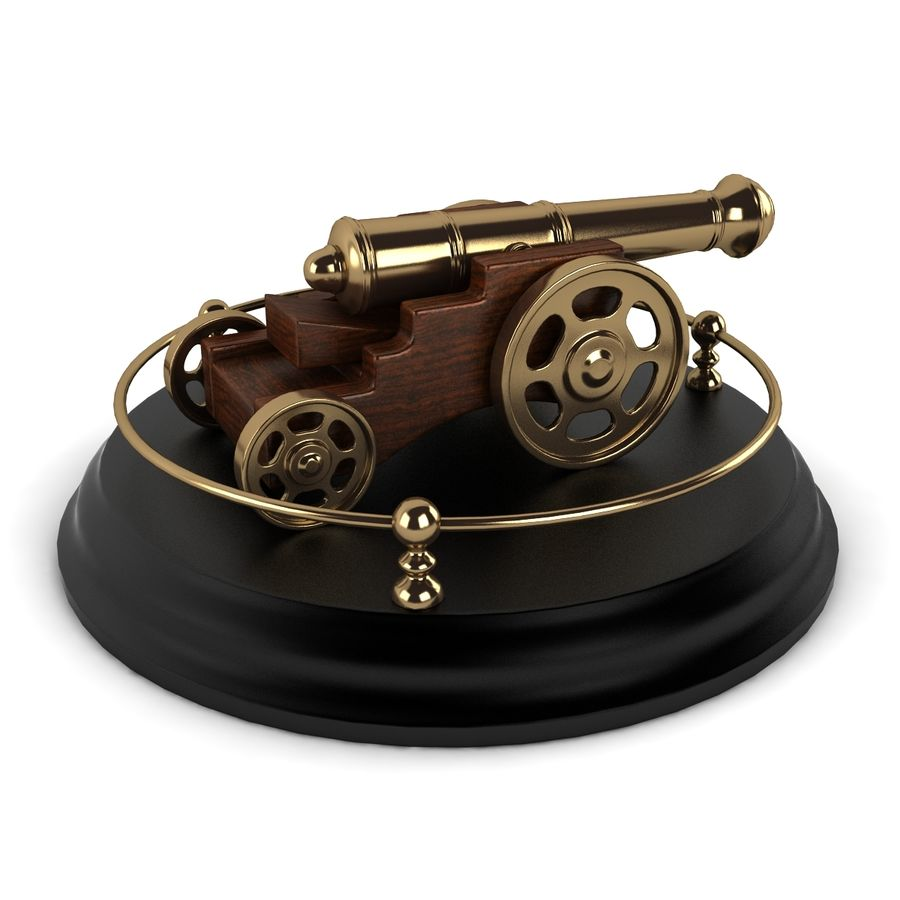 Antique Cannon Vintage royalty-free 3d model - Preview no. 3