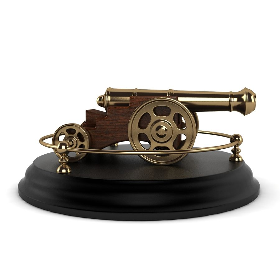 Antique Cannon Vintage royalty-free 3d model - Preview no. 8