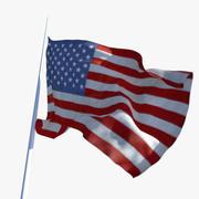 Dynamic Flag 3d model