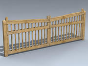 Driveway Gate (Pine Lumber) 3d model
