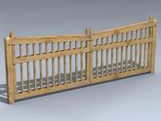Ворота (Сосновые пиломатериалы) 3d model