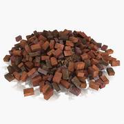 Tas de débris de pierre de brique 3d model