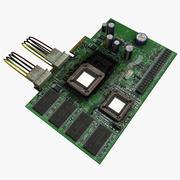 Печатная плата PCB 3d model