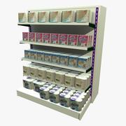Kitchen Towel Shopping Shelf 3d model