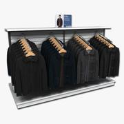 Mens Coat Display Rack 3d model