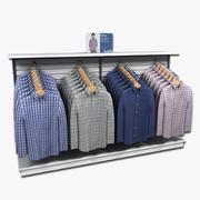 Mens Long Sleeved Shirt Display 3d model