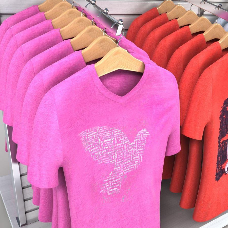 Bayan T-Shirt Ekranı royalty-free 3d model - Preview no. 3