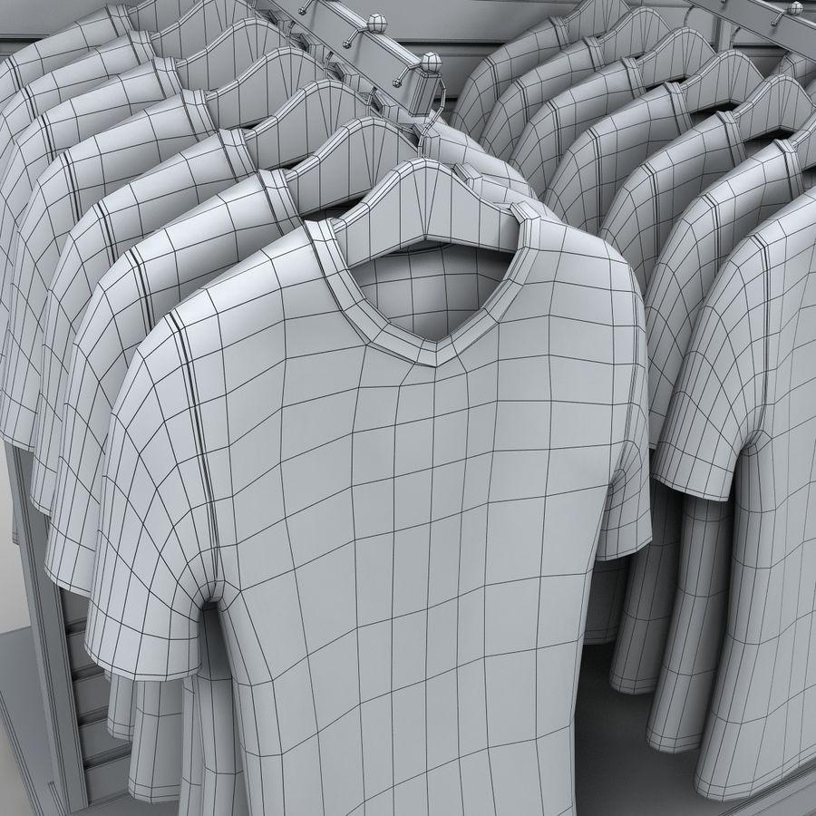 Bayan T-Shirt Ekranı royalty-free 3d model - Preview no. 8