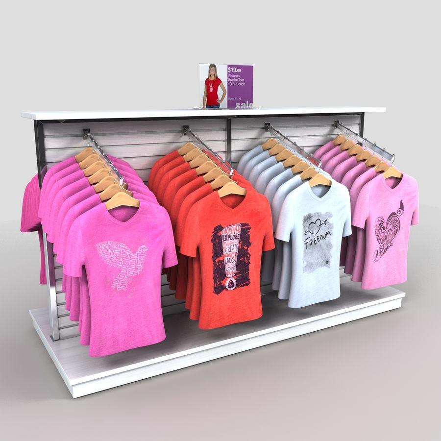 Bayan T-Shirt Ekranı royalty-free 3d model - Preview no. 2