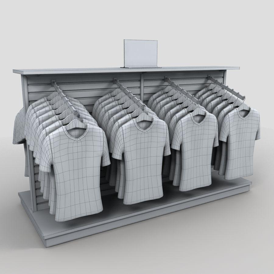 Bayan T-Shirt Ekranı royalty-free 3d model - Preview no. 7