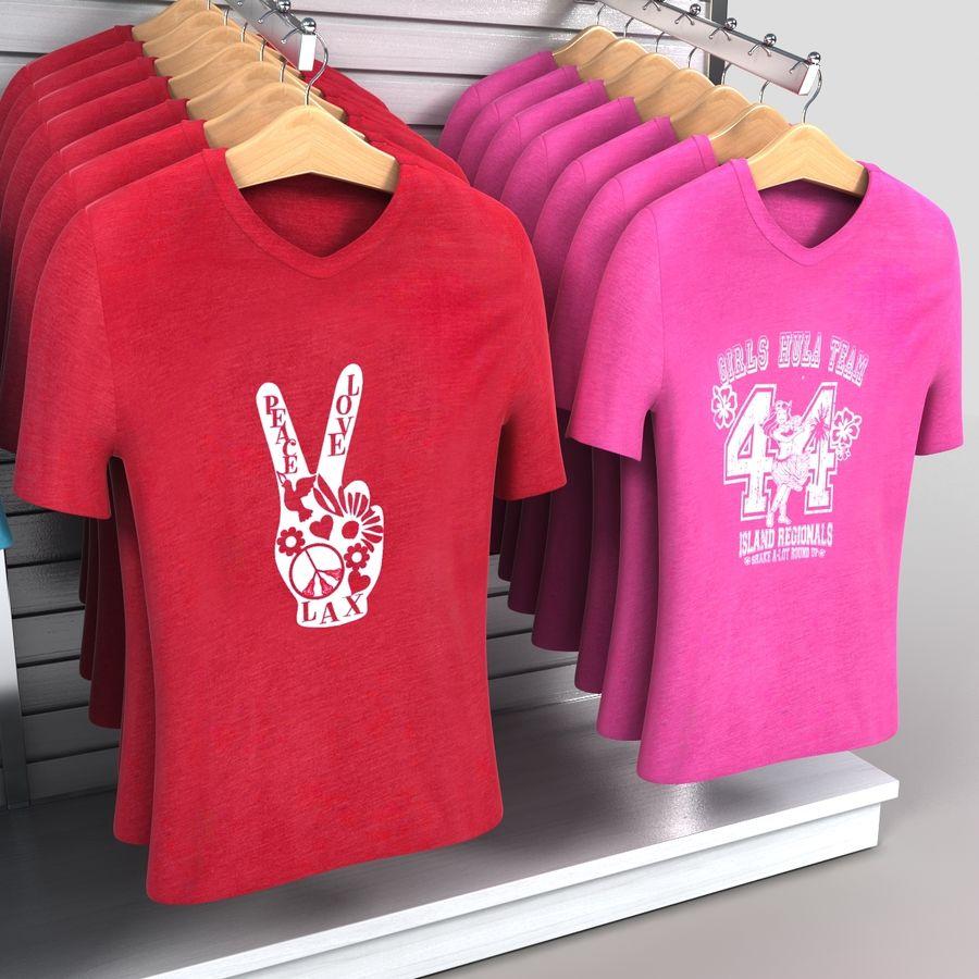 Bayan T-Shirt Ekranı royalty-free 3d model - Preview no. 5