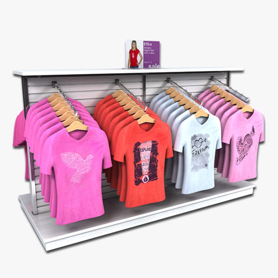 Bayan T-Shirt Ekranı royalty-free 3d model - Preview no. 1