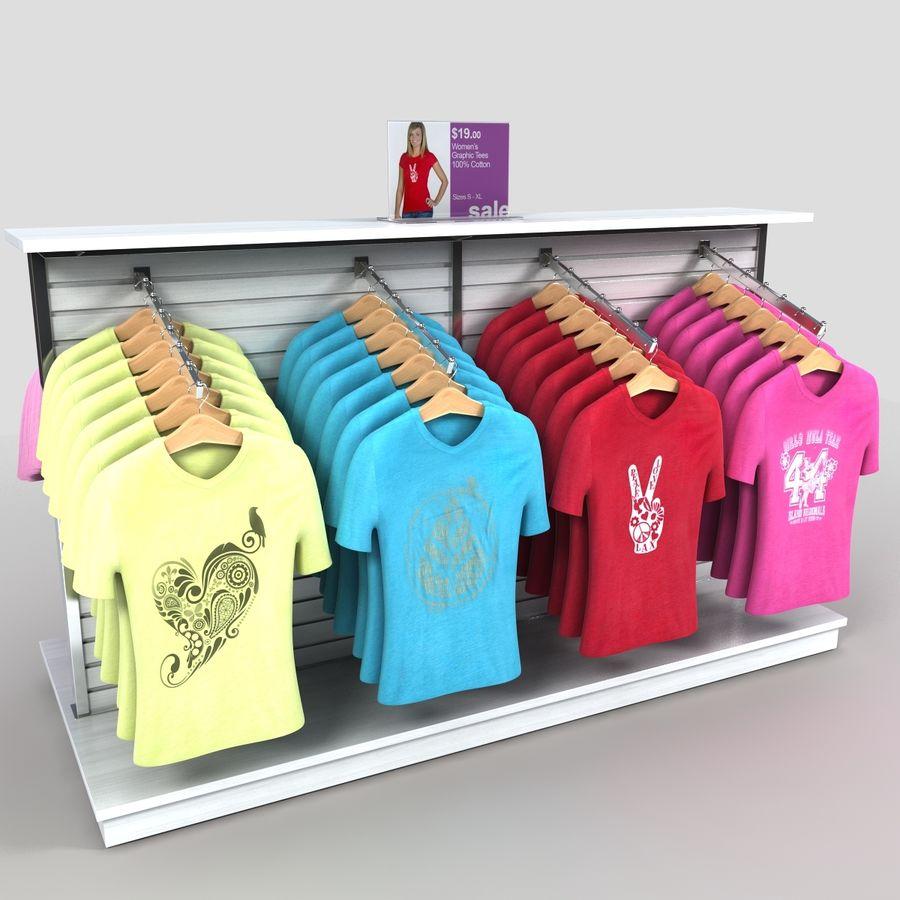 Bayan T-Shirt Ekranı royalty-free 3d model - Preview no. 4