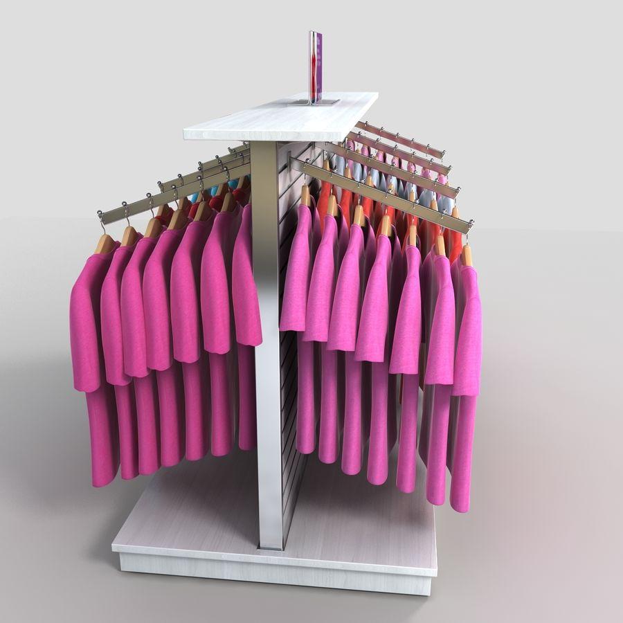 Bayan T-Shirt Ekranı royalty-free 3d model - Preview no. 6